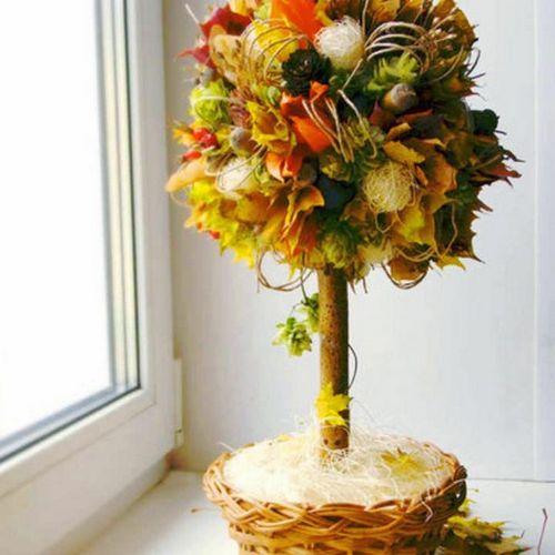 Осенний топиарий своими руками фото 29