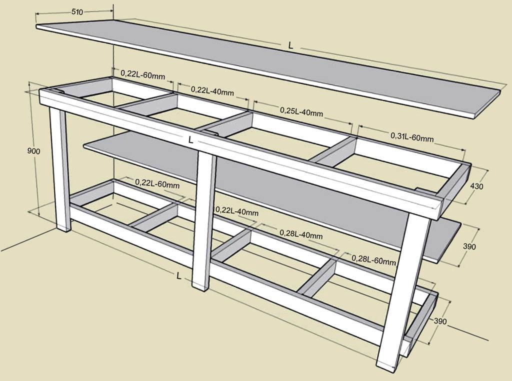 Стол для верстака своими руками 770