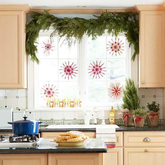 окна на кухне новый год 4