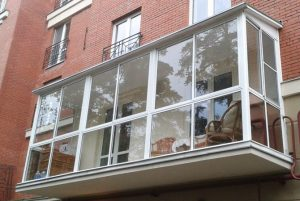 прозрачный балкон