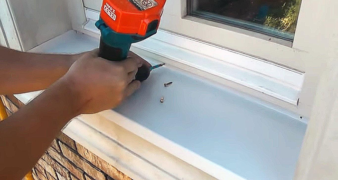 Как сделать отлив на деревянное окно 955