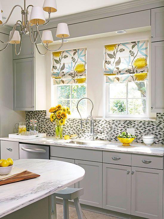 римские шторы на кухне 3