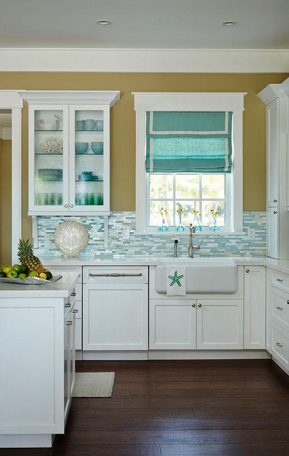 римские шторы на кухне 5