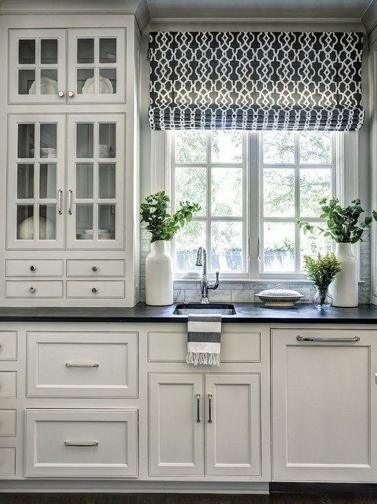римские шторы на кухне 6