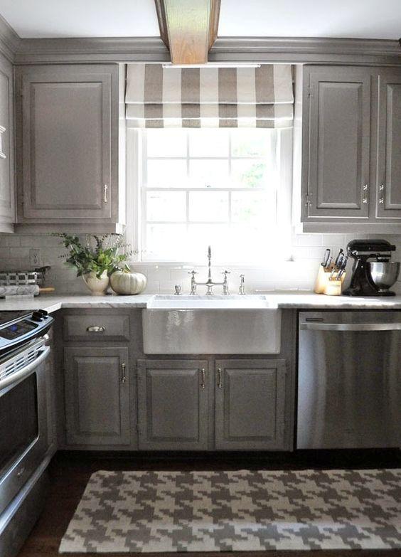 римские шторы на кухне 7